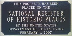 National Register plaque photo